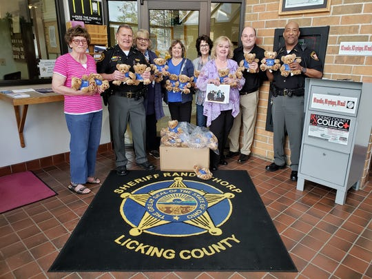 Altrusa International of Licking County, a nonprofit organization, delivered 50 bears to the Licking County Sheriff's Office on Monday, April 22, 2019. According to victim advocate Mark Weiner, the bears will help kids who have experienced trauma.