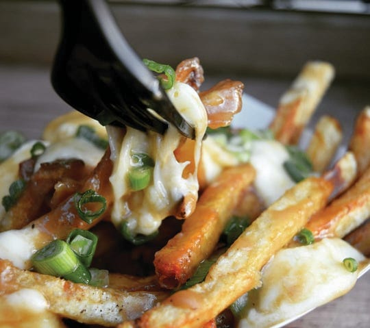 The poutine fries at Diesel & Duke