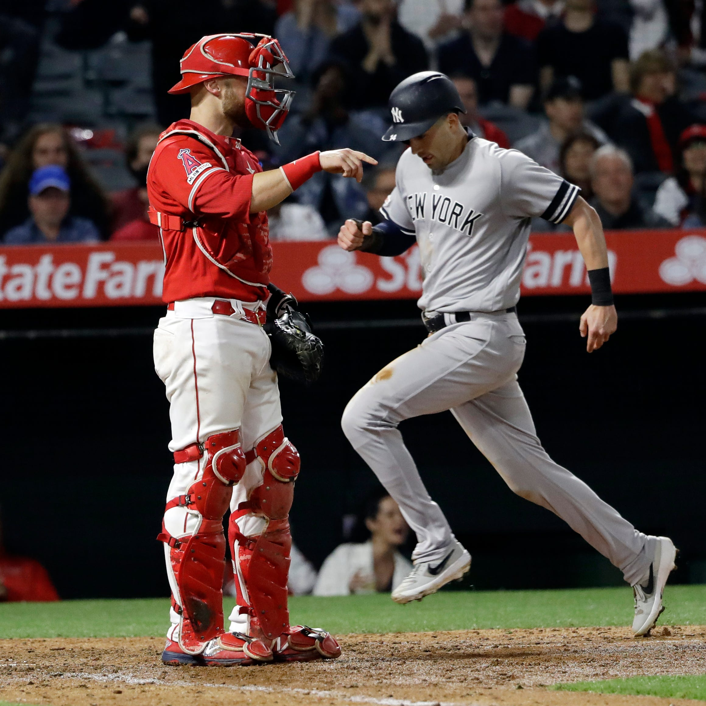 Yankees rally back from five runs down at Anaheim to win sixth straight