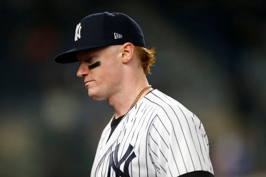 New York Yankees left fielder Clint Frazier was added to the injury list after an MRI showed a partial tear in his left ankle.
