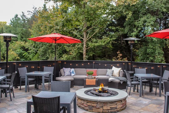 Alfresco dining/drinking can be had at The Hill in Closter
