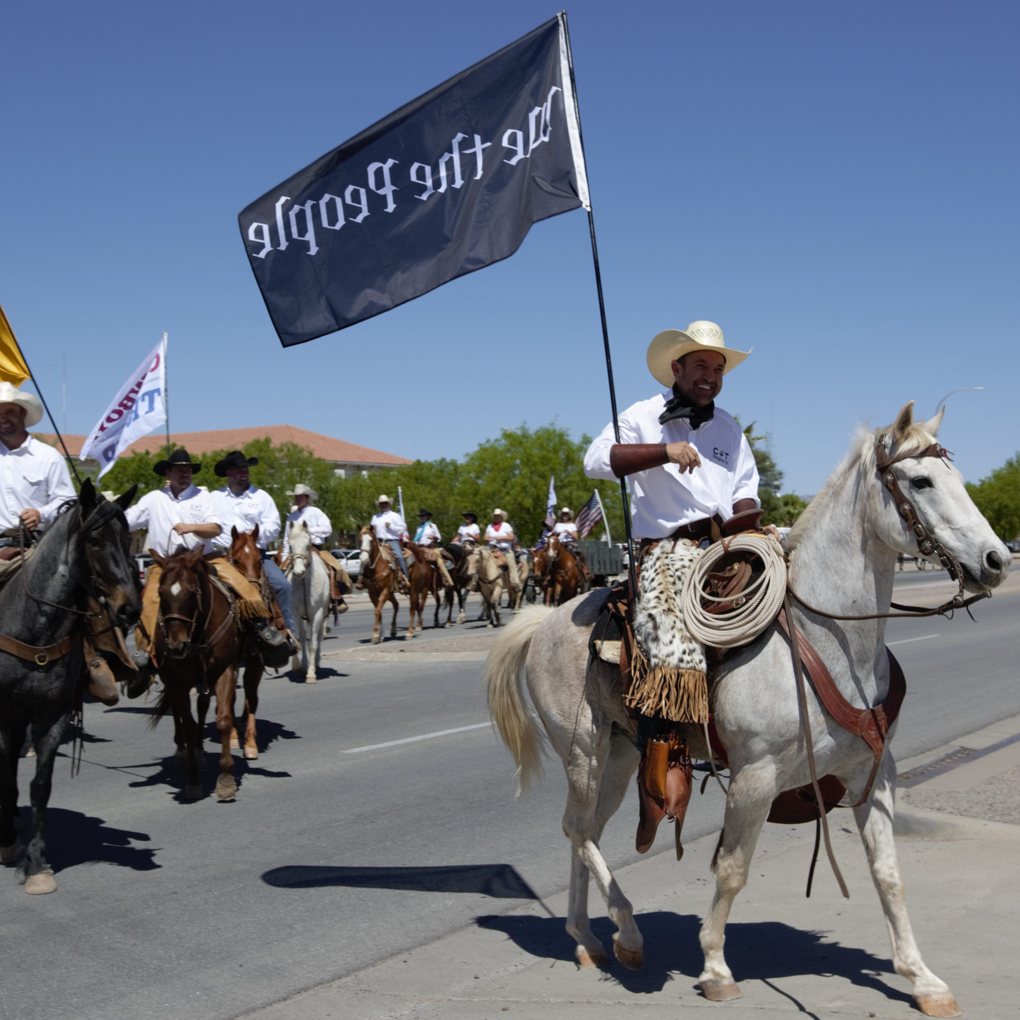 Cowboys for Trump ride into Las Cruces