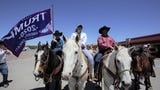 Cowboys for Trump, a group of conservatives from southern New Mexico, rode into Las Cruces April 25, 2019, in support of President Donald Trump.
