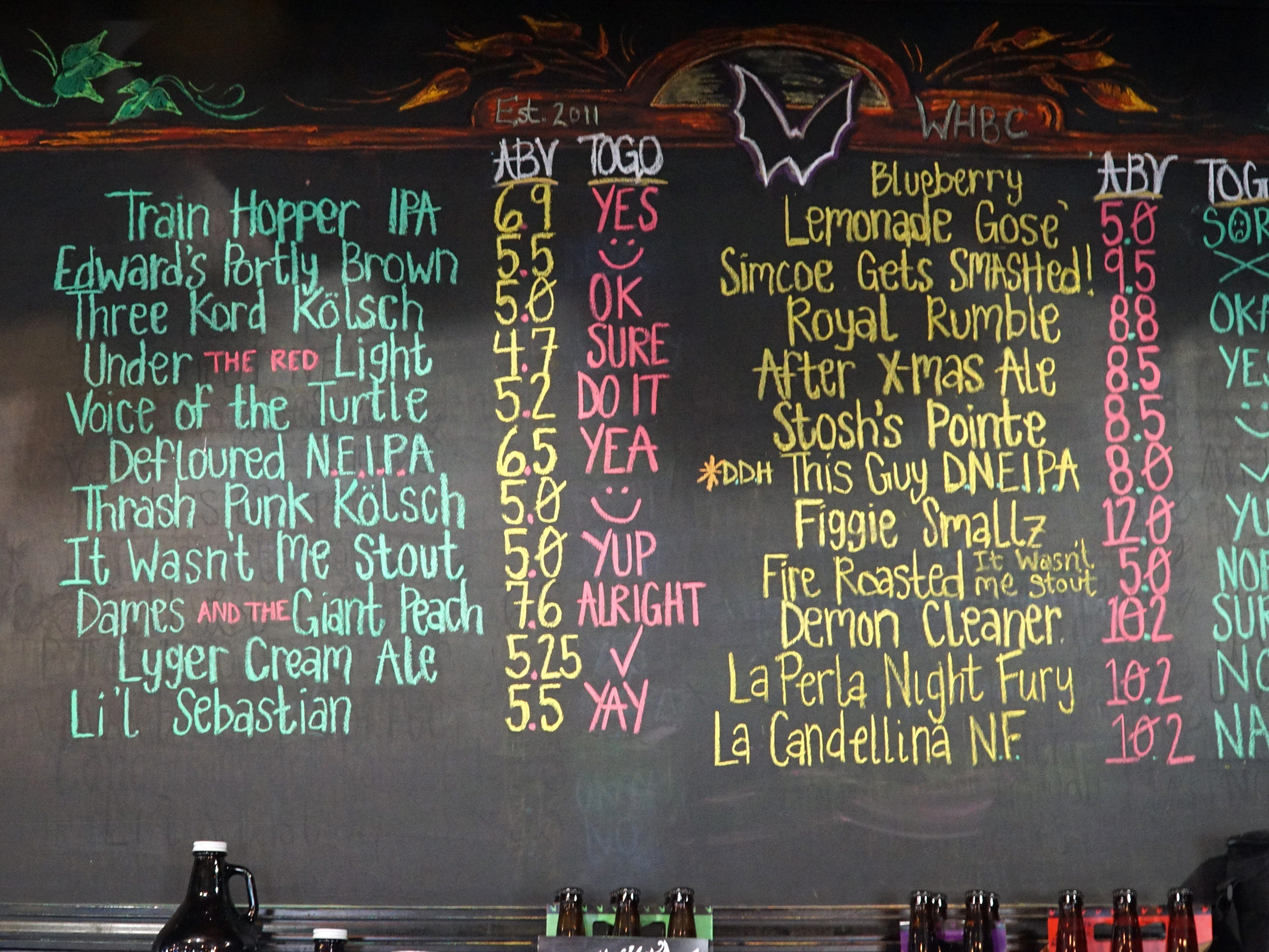 Witch's Hat only features beers and ales that they personally make.