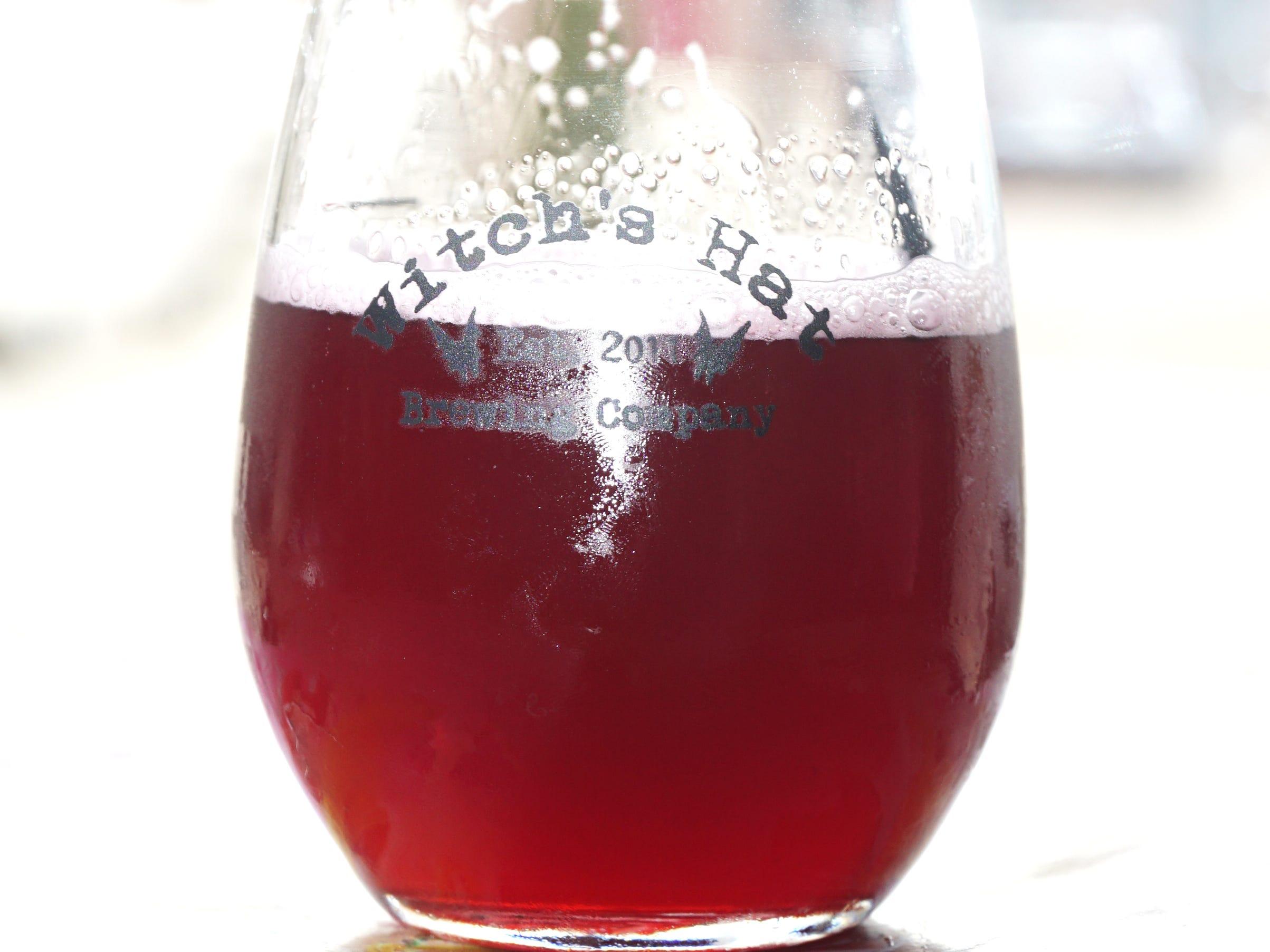 Witch's Hat Blueberry-Lemonade gose brew.