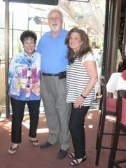 From left: Event coordinator Barbara Stenzler, Tony Bruggemans from Le Vallauris and president Dee Brown