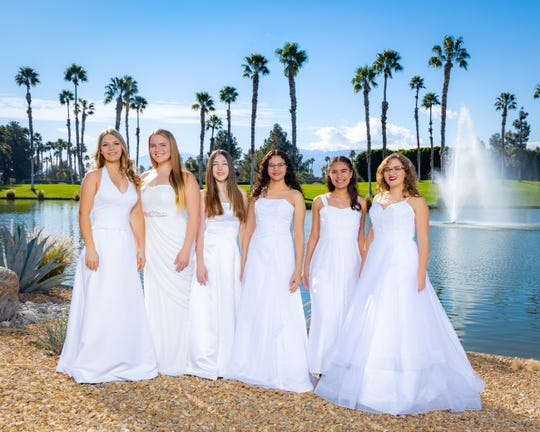 From left to right: Haley Avalos, Ashley Foster, Christina Marquez, Hailey Siegand, Tierney Thornhill and Celise Vaughan