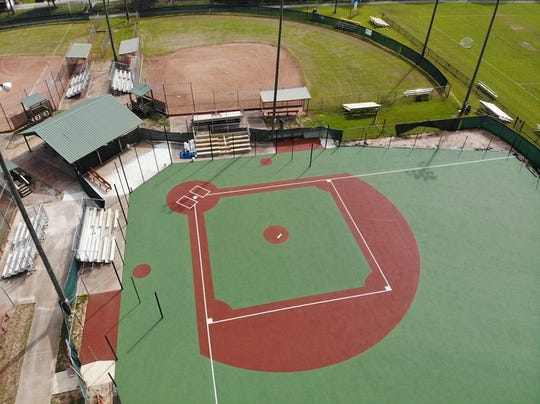 The brand new ADA-friendly ball field at the Tiger Point Community Center in Gulf Breeze will host its opening ceremony and first ball games Saturday.