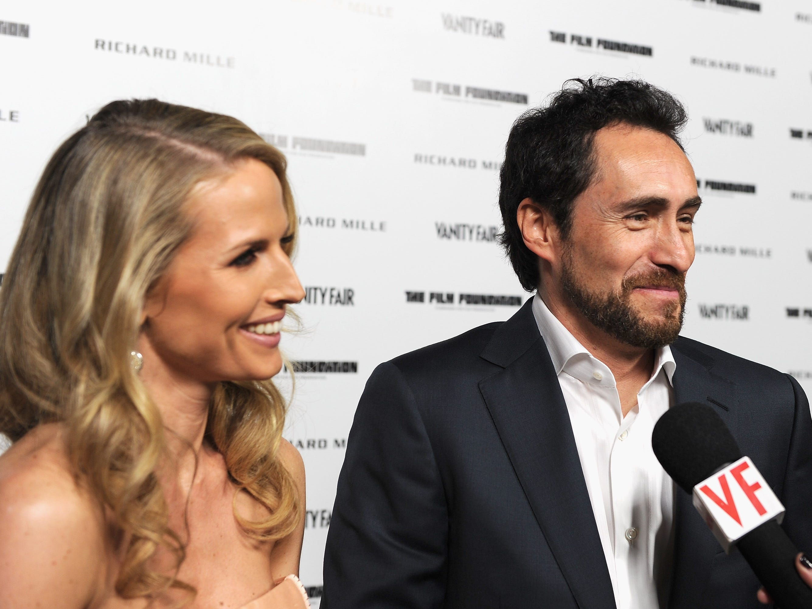 Demian Bichir and Stefanie Sherk attend a Martin Scorsese celebration at Hotel Bel-Air on Feb. 24, 2012, in Los Angeles, California.