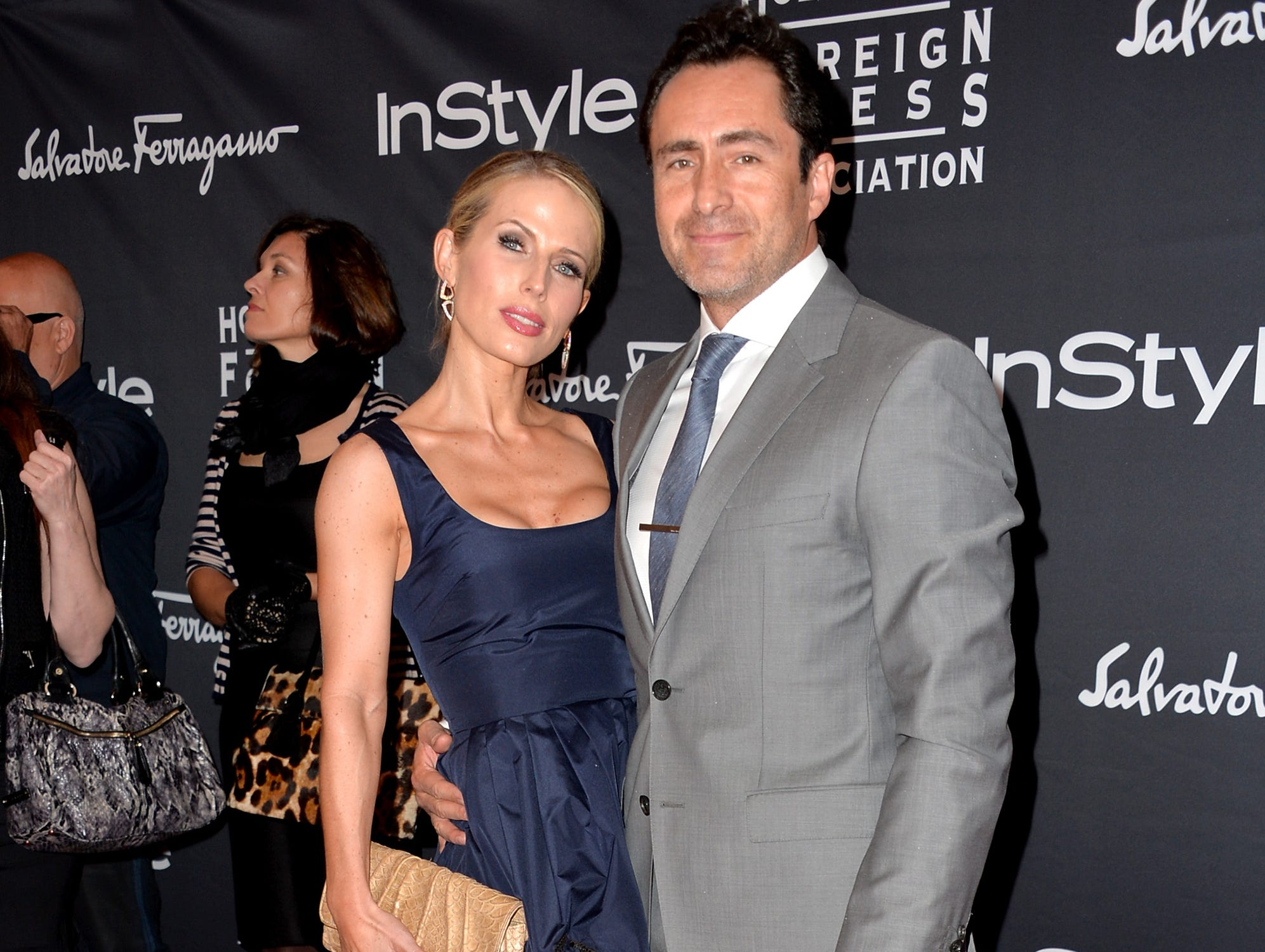 Demian Bichir and Stefanie Sherk arrive at the TIFF HFPA / InStyle Party during the 2013 Toronto International Film Festival at Windsor Arms Hotel on September 9, 2013, in Toronto