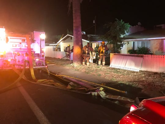 Firefighters responded to a house fire in Phoenix that left one woman in extremely critical condition on April 24, 2019.