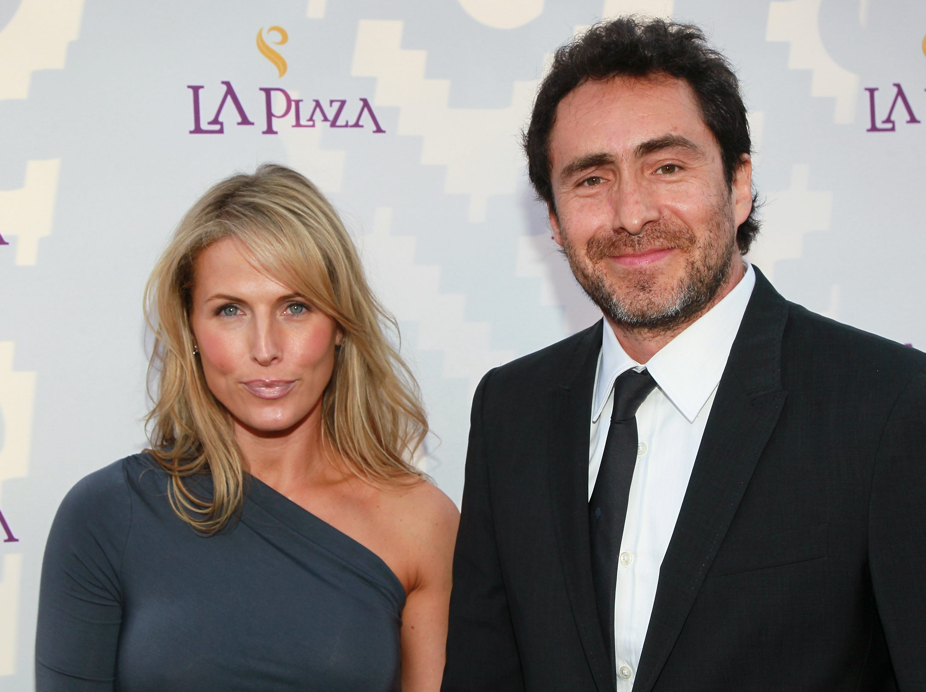 Demian Bichir and Stefanie Sherk attend the Inaugural Gala of LA Plaza de Cultura y Artes on April 9, 2011, in Los Angeles.