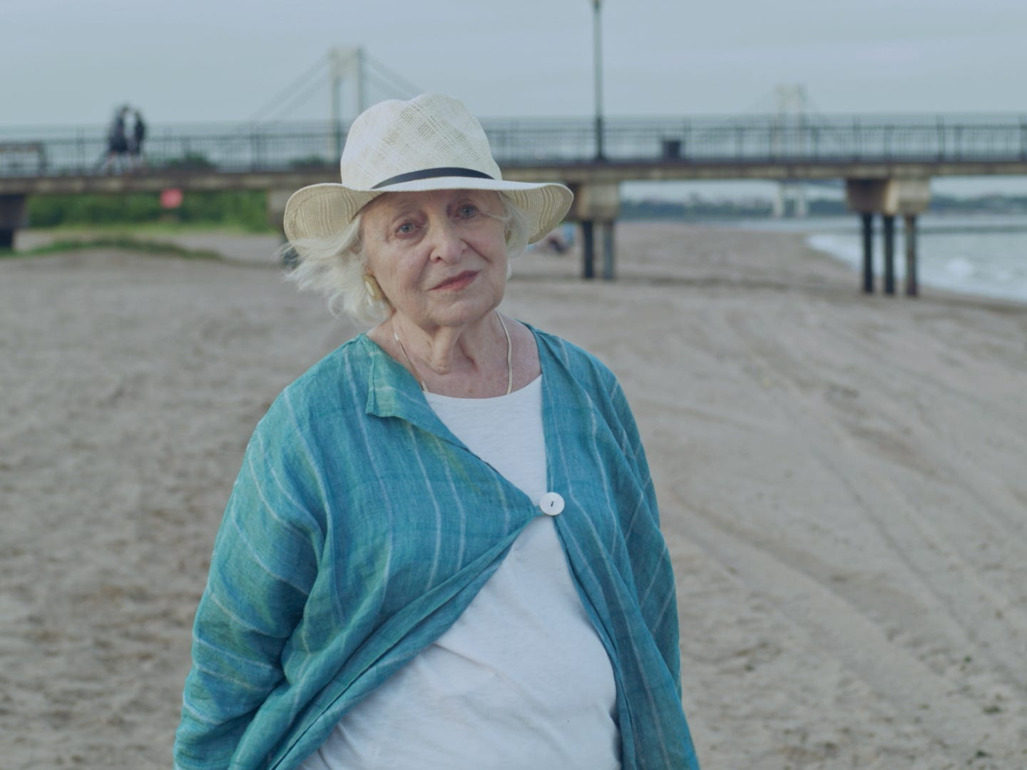 """In """"The Last,"""" Claire (Rebecca Schull) spends an afternoon at the beach."""