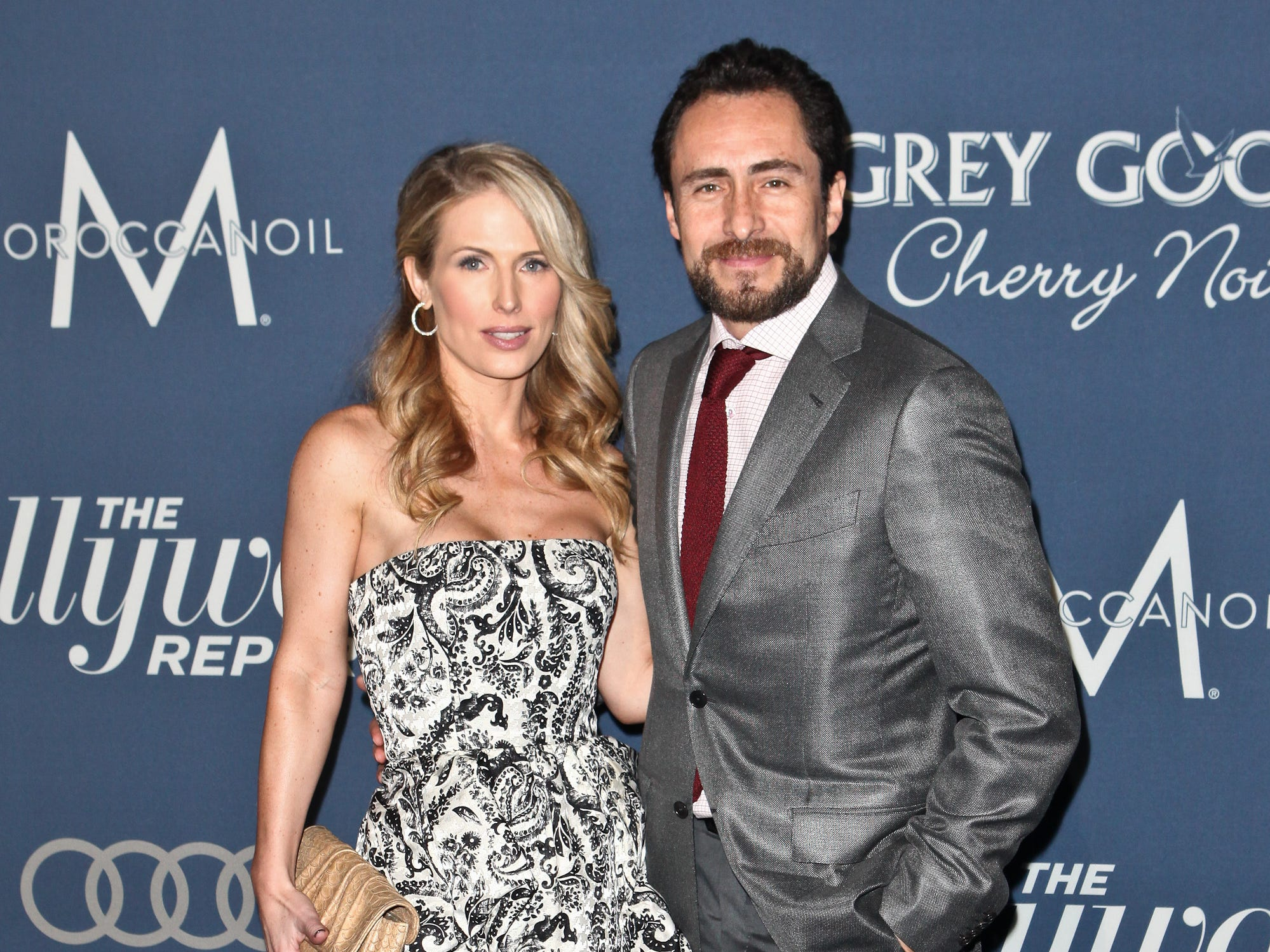 Demian Bichir and Stefanie Sherk arrive at the Hollywood Reporter's 'Nominees' Night 2012' on Feb. 23, 2012, in Los Angeles.