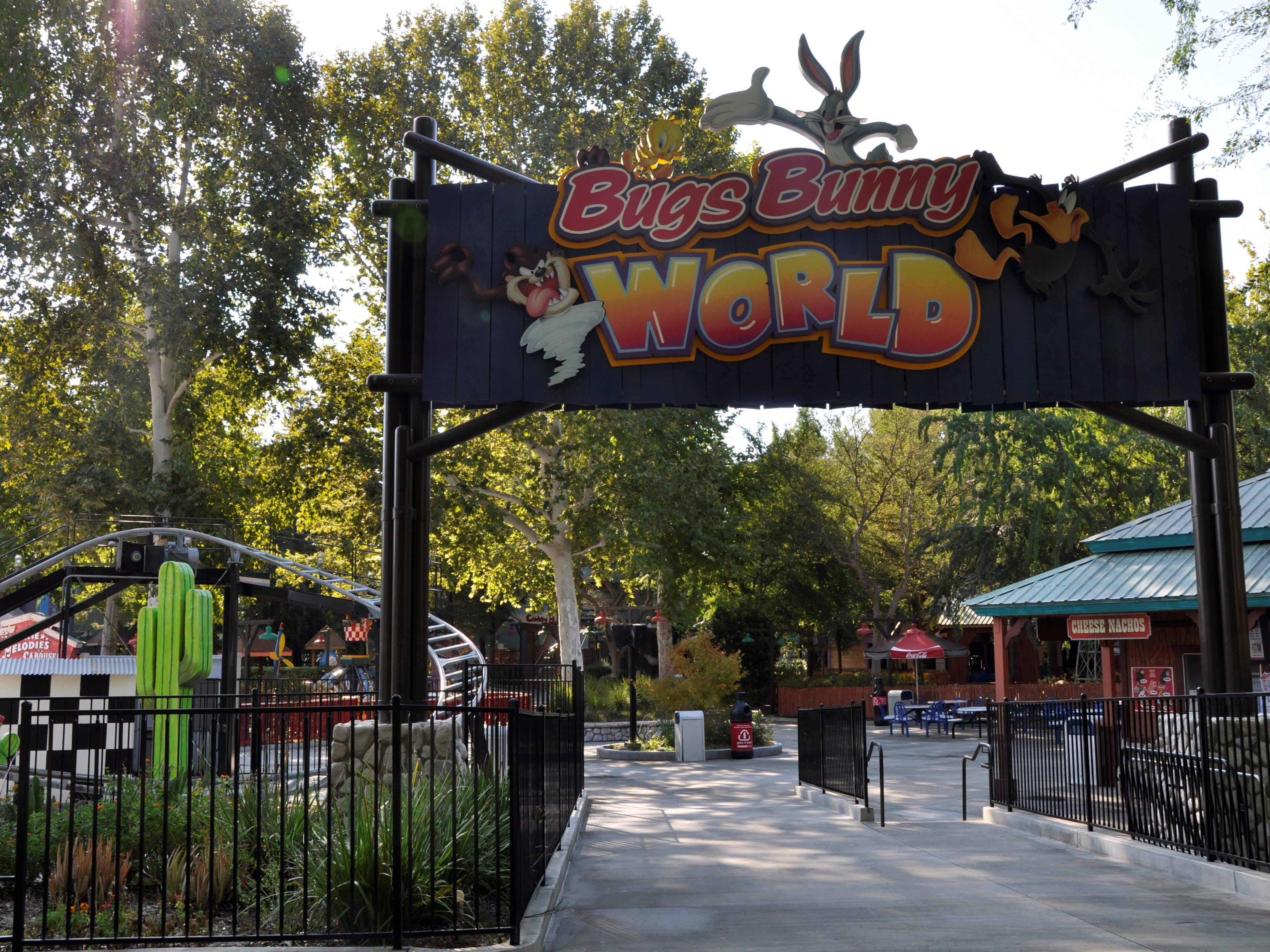 Younger children will enjoy Bugs Bunny World at Six Flags Magic Mountain.