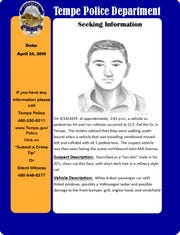 Tempe Police release composite sketch in hit and run on April 14.