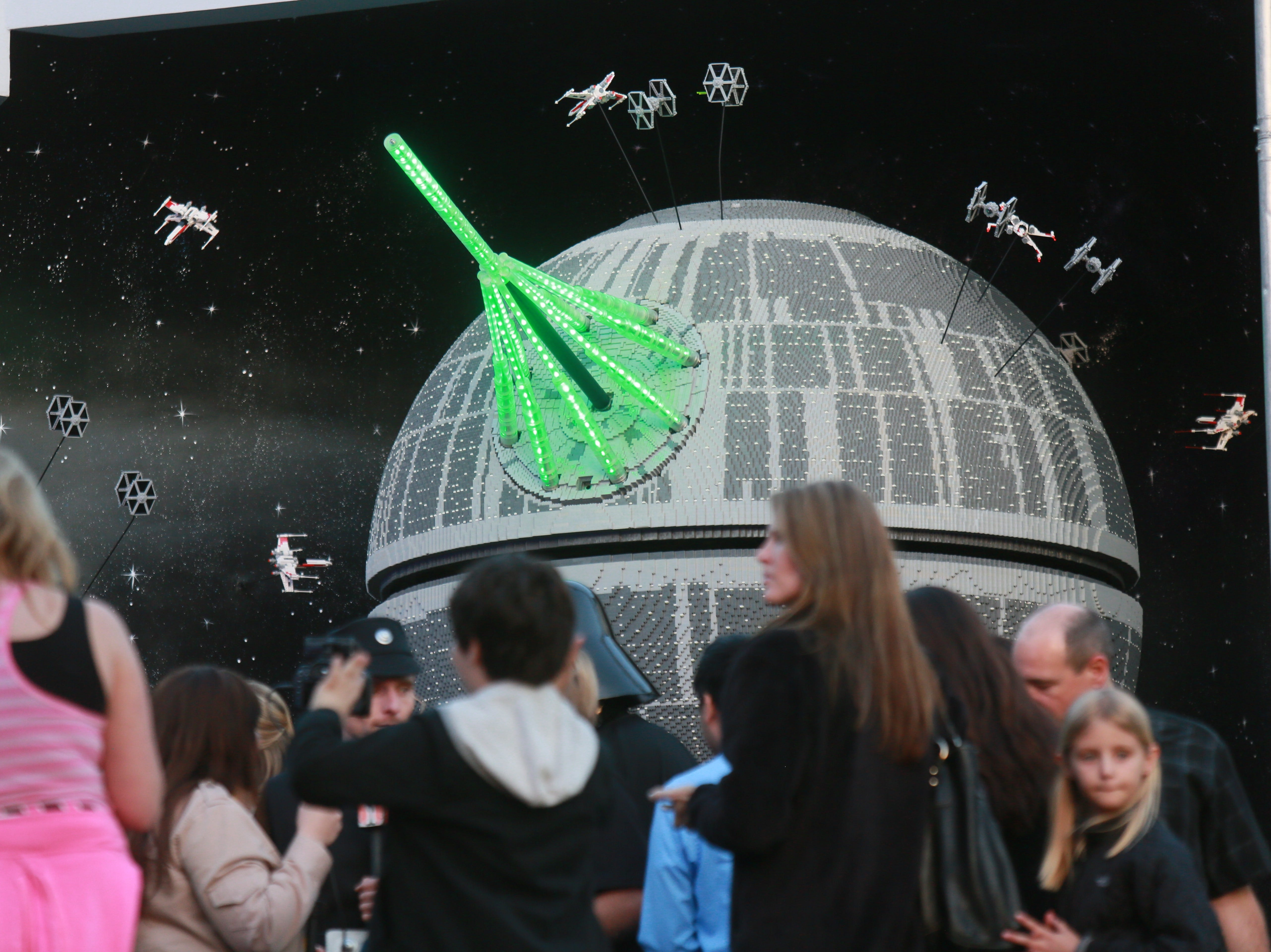 "The world of ""Star Wars"" unfolds in Miniland at Legoland California."