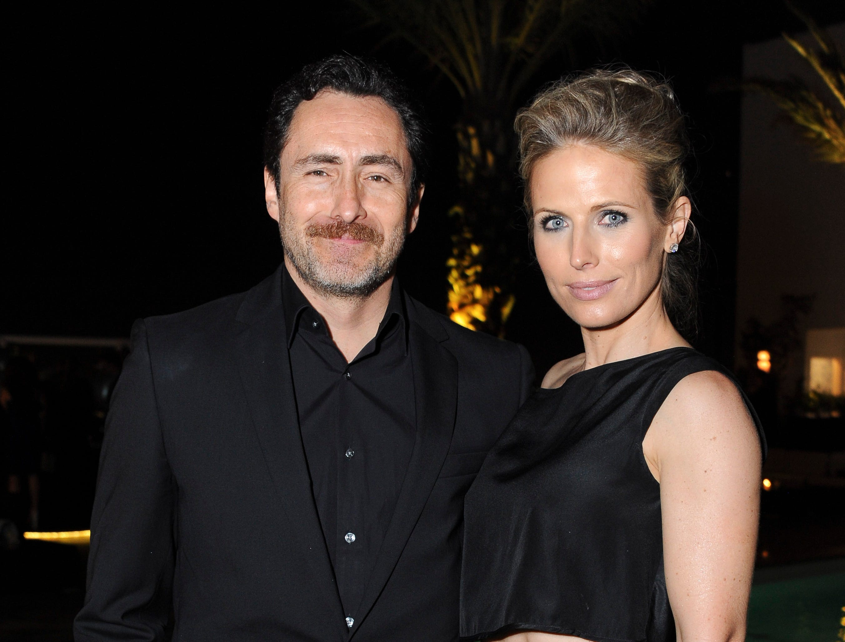 Demian Bichir and Stefanie Sherk attend TheWrap's First Annual Emmy Party on June 5, 2014, in West Hollywood, California.