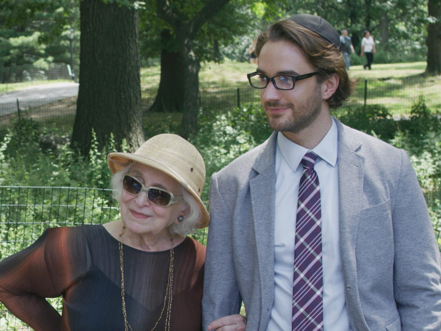"""Claire (Rebecca Schull) enjoys the day with her great-grandson (AJ Cedeño) in """"The Last."""""""
