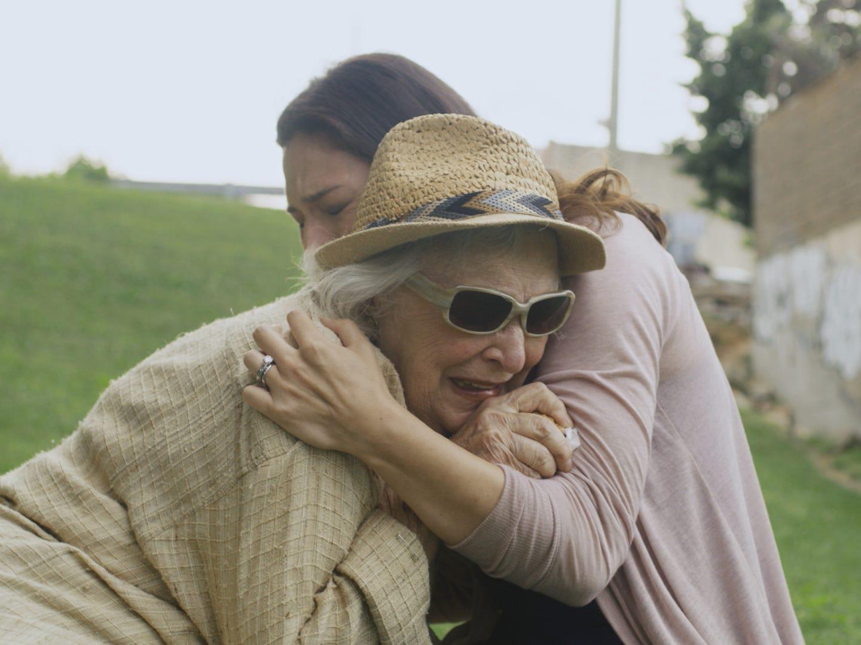 """Olivia (Jill Durso) comforts Claire (Rebecca Schull) in """"The Last."""""""