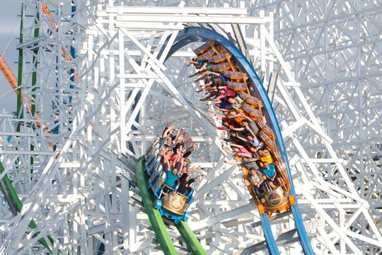 The Twisted Colossus at Six Flags Magic Mountain.