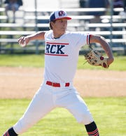 Roy C. Ketcham's Xavier Kolhosser pitches during Wednesday's game versus Arlington on April 24, 2019.