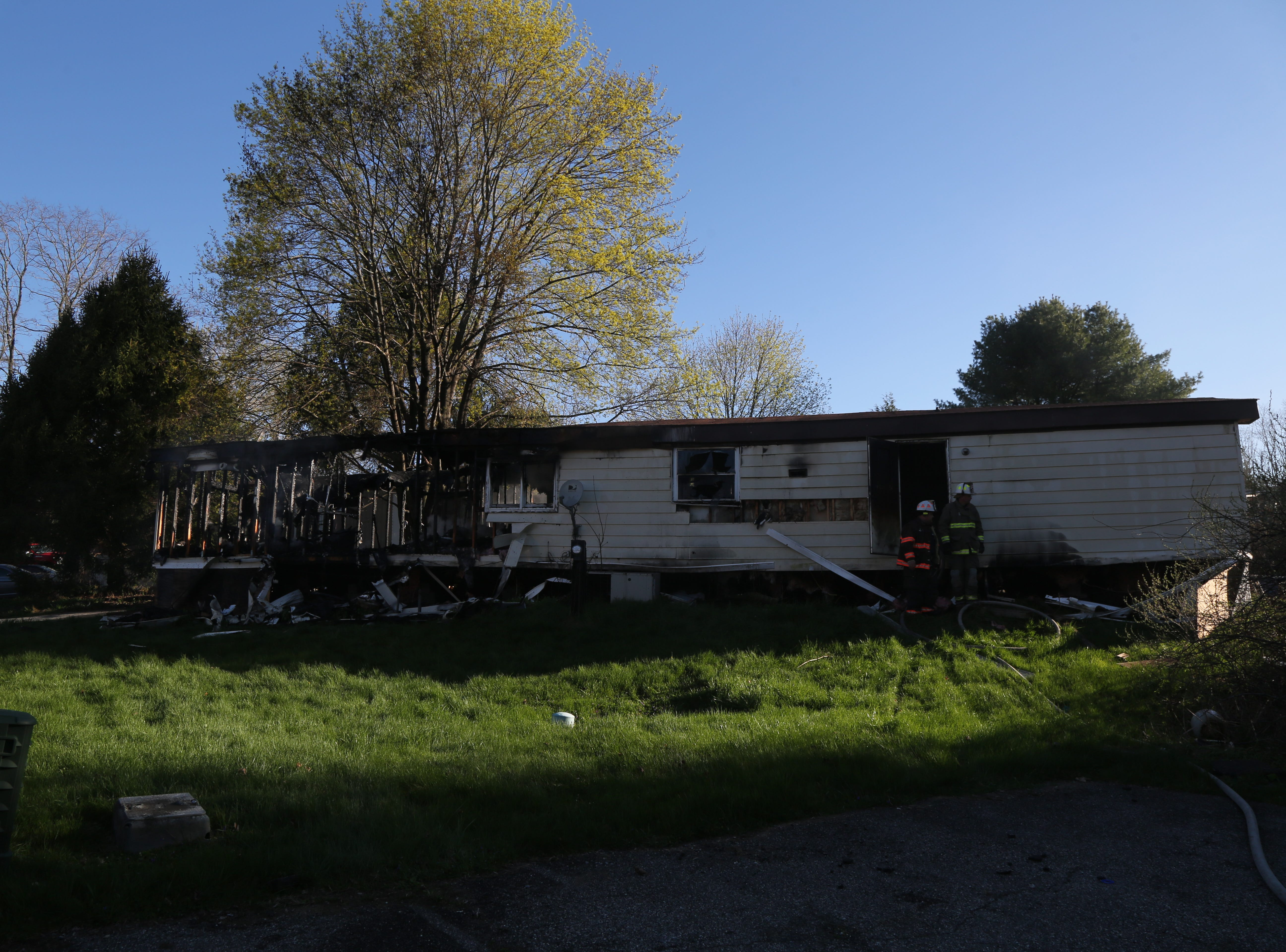 The Dutchess County Fire Investigation Division was in Dover Plains on Thursday after a trailer home was destroyed in a fire on April 25, 2019.
