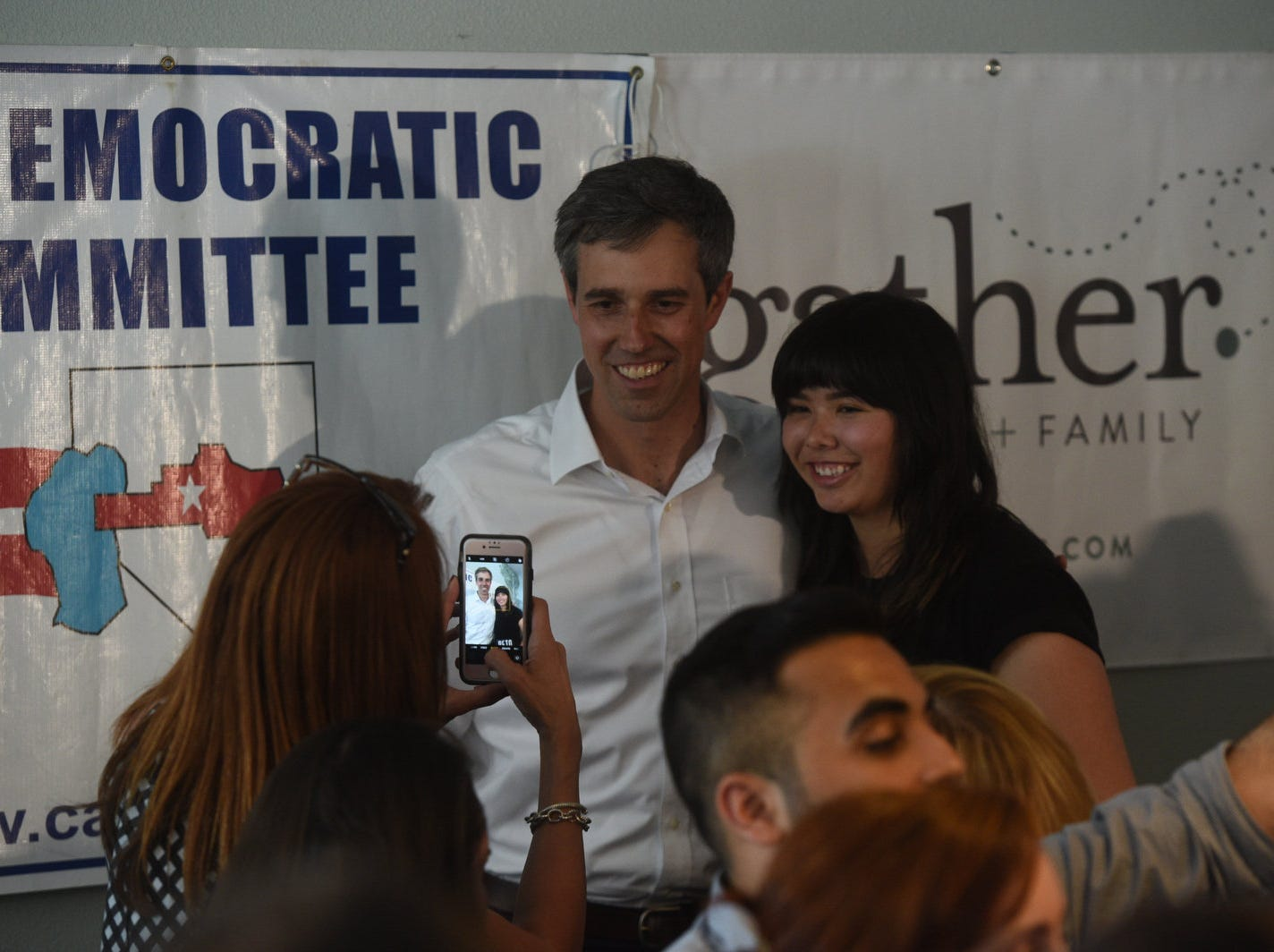 Democratic candidate for President Beto O'Rourke speaks during a campaign stop at Gather in Carson City on April 25, 2019.