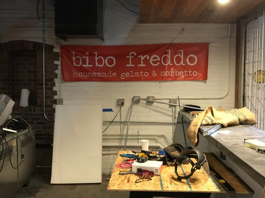 Work is proceeding on the new Bibo Coffee Co. in West Street Market in downtown Reno. This location will be the fifth Bibo in Reno. A May 2019 opening is planned.