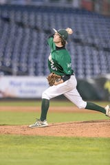 Incline's Jake Harrell pitches in a game at Greater Nevada Field earlier in April.