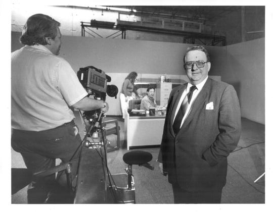 Theodore Hummel pictured at his PCI Recording Studio on March 2, 1987.