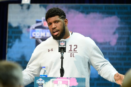 If the Bills can't live without defensive tackle Ed Oliver, they may have to trade all the way up to the Jets' pick at No. 3 to get him.