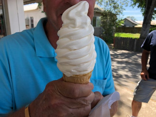 The popular soft serve ice cream cone at Roger's Frosty in downtown Cottonwood.