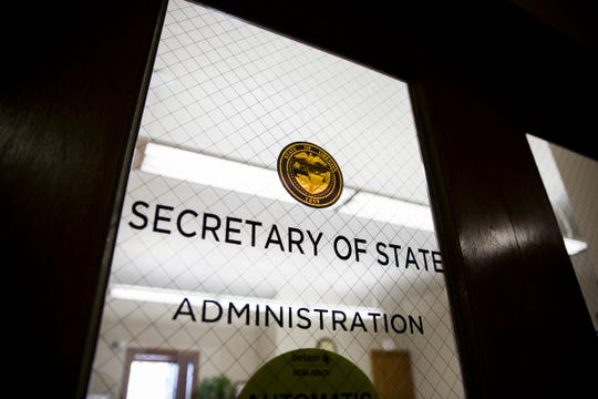 The Secretary of State's office at the Oregon State Capitol in Salem.