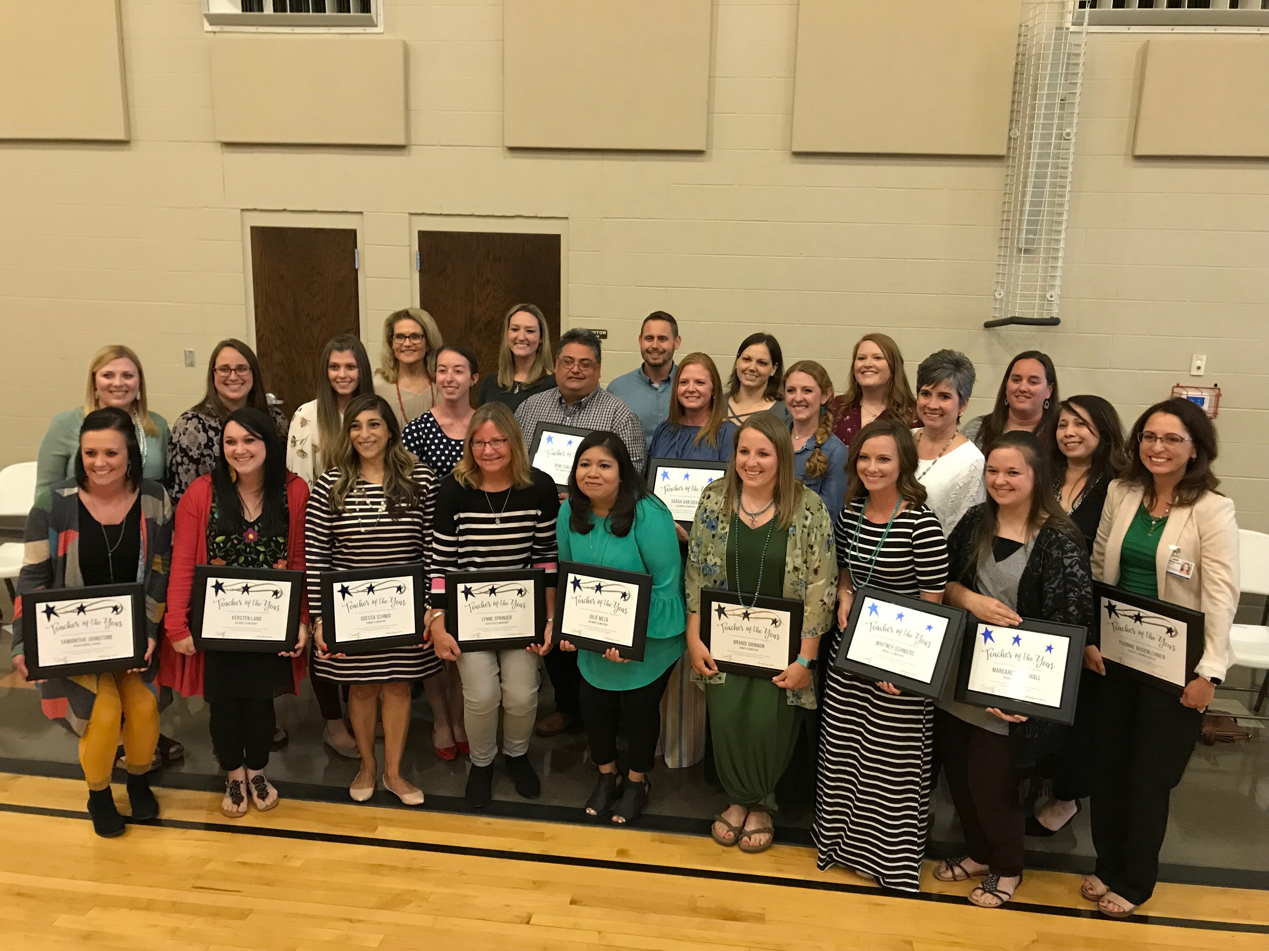 San Angelo ISD teachers were recognized for their outstanding leadership and excellence at the 2019 Teacher of the Year Ceremony.