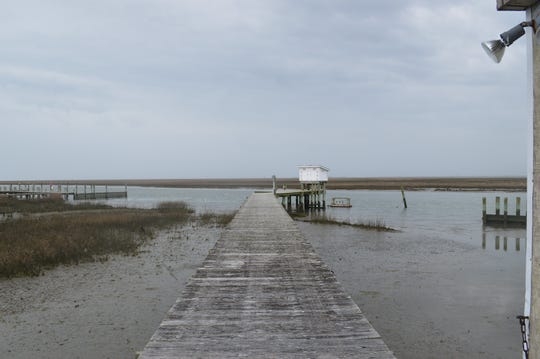The dock of VIMS laboratory in  Wachapreague.