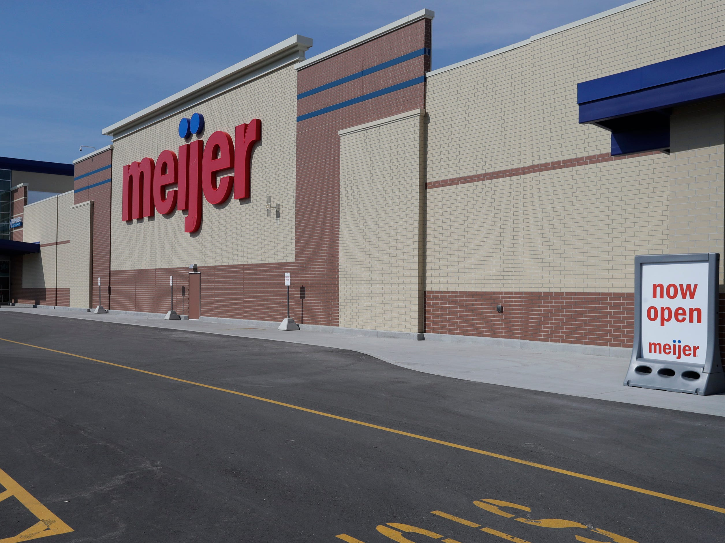 An exterior at Meijer, Thursday April 25, 2019, in Sheboygan, Wis. The 155,000-square-foot supercenter has 300 employees on opening day.