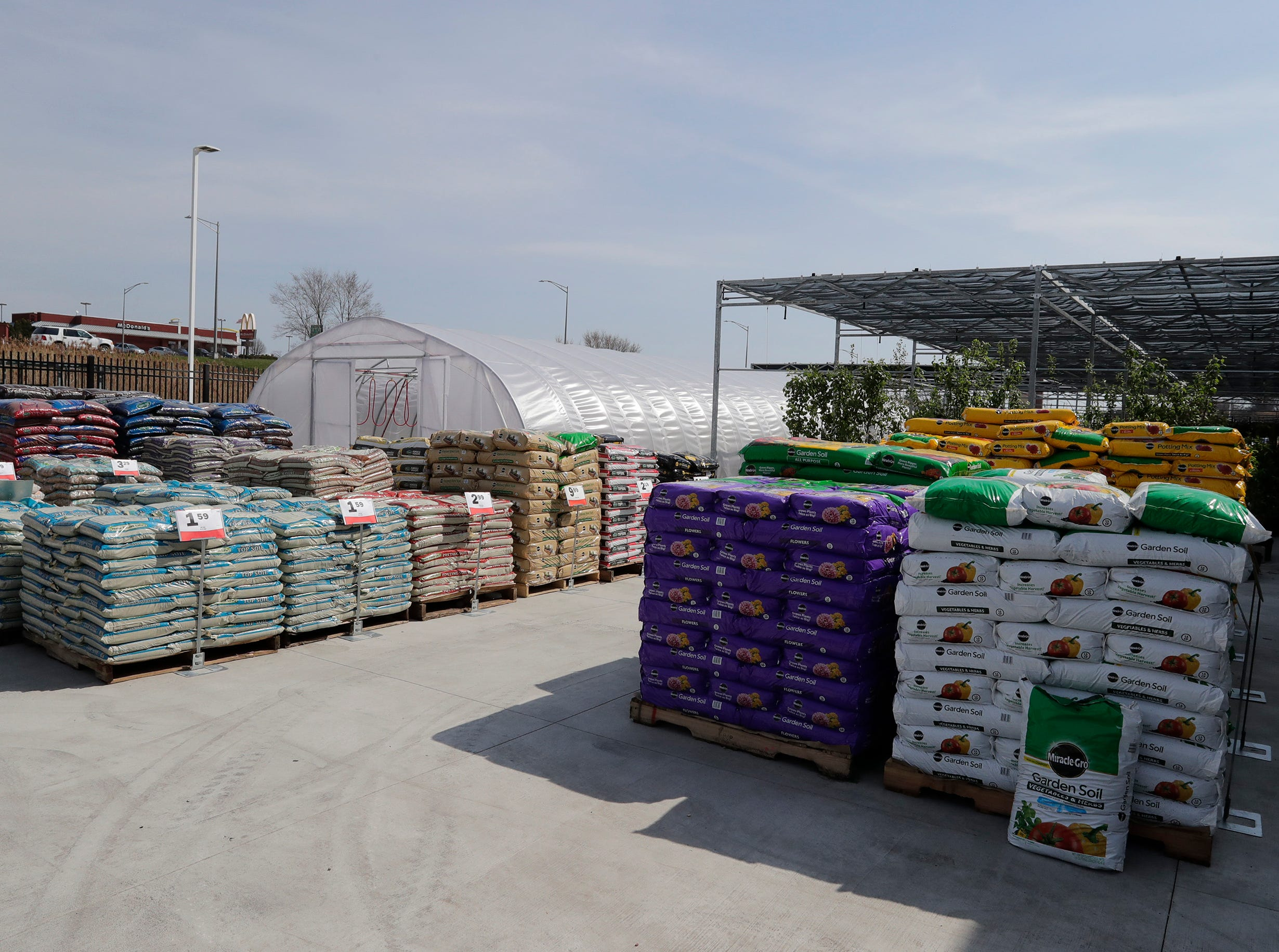 The garden area at Meijer, Thursday April 25, 2019, in Sheboygan, Wis. The 155,000-square-foot supercenter has 300 employees on opening day.