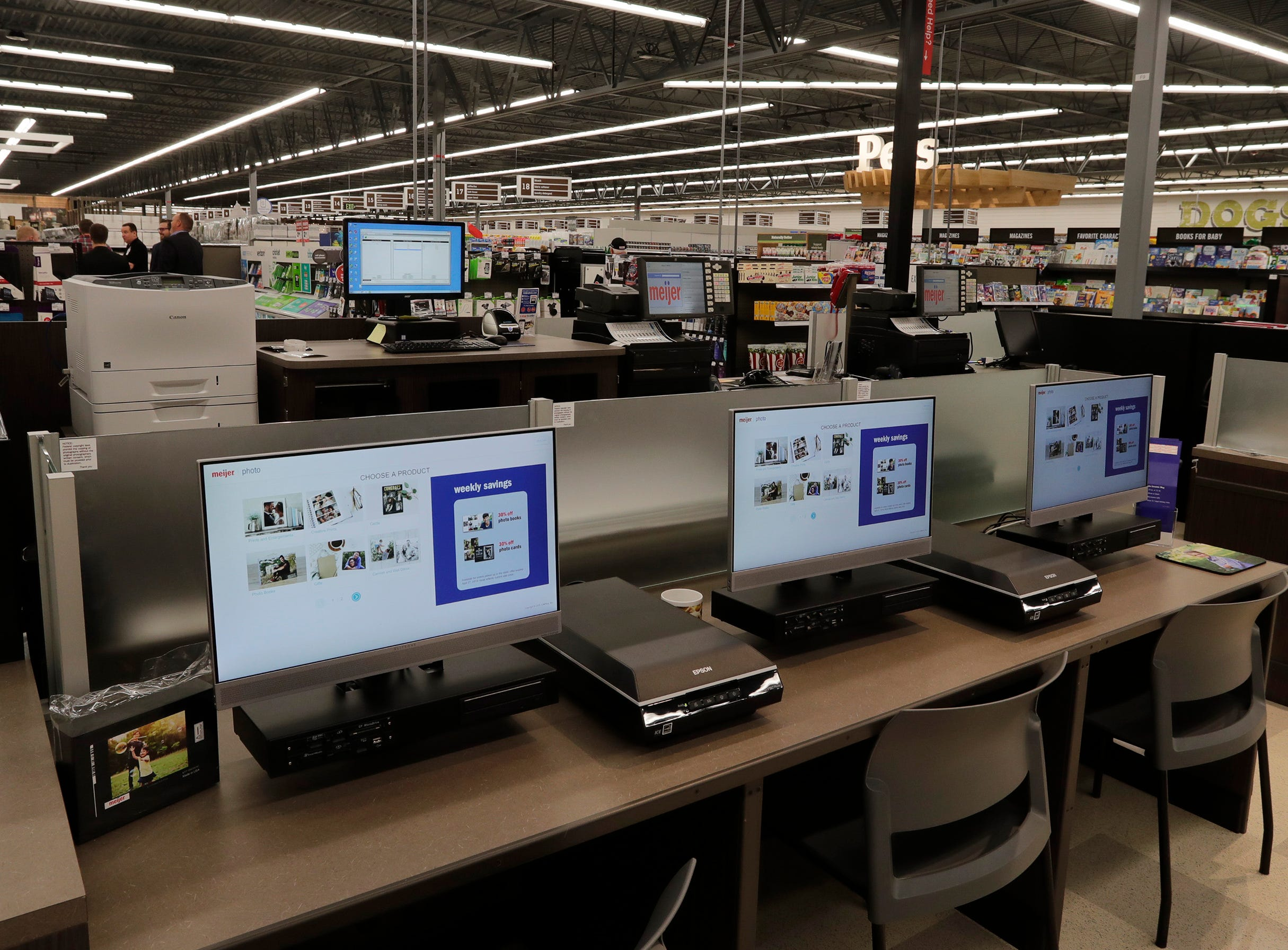 The photo reprint area at Meijer, Thursday April 25, 2019, in Sheboygan, Wis. The 155,000-square-foot supercenter has 300 employees on opening day.