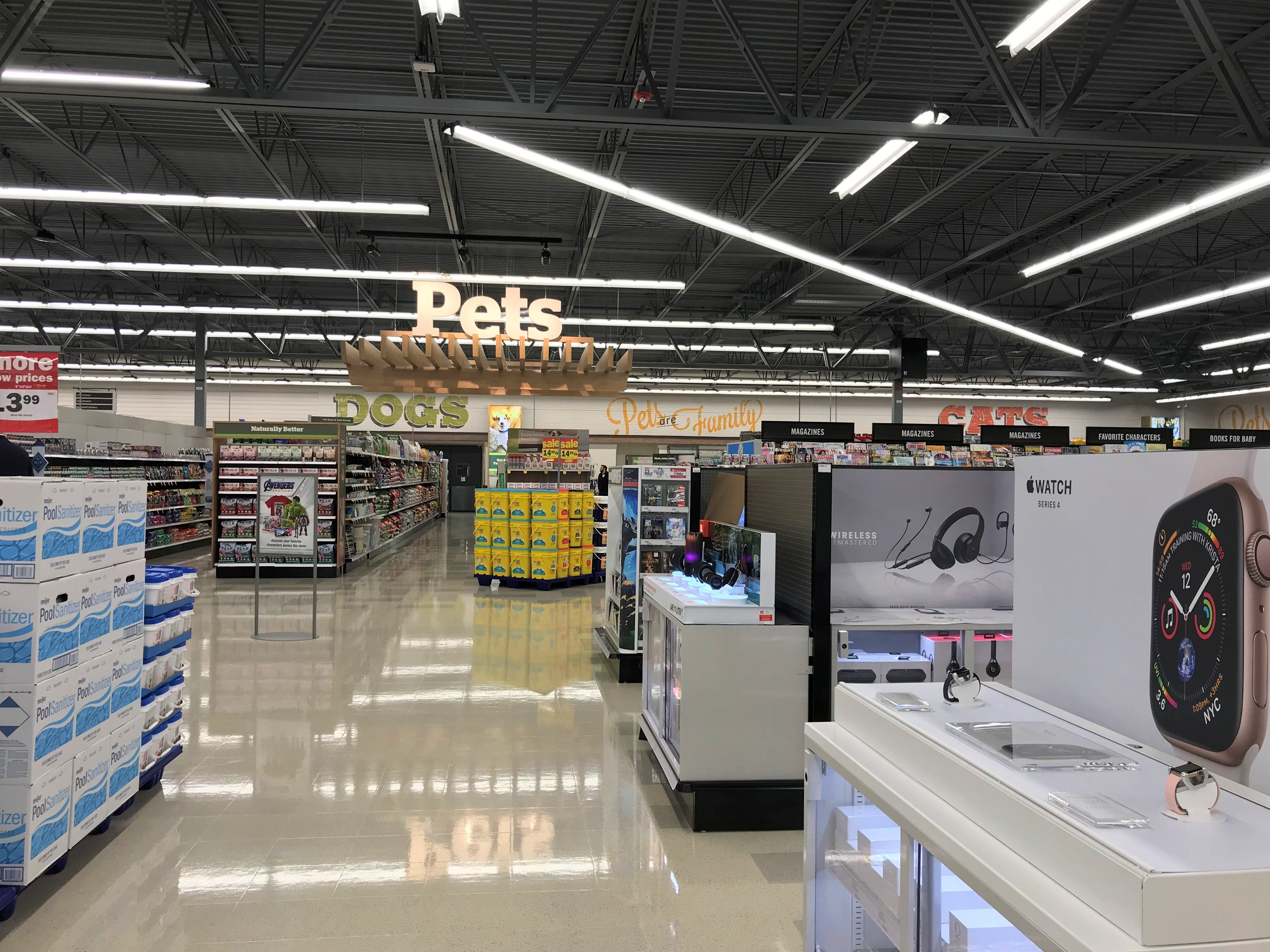 Meijer is officially open in Sheboygan. The new store features a pet section, cosmetics and other department store features.