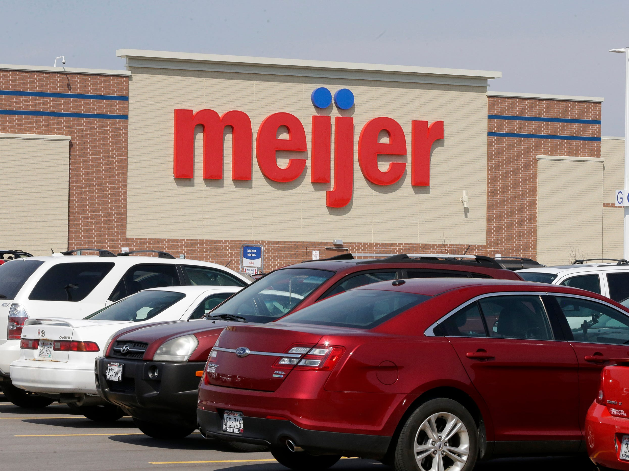 The exterior at Meijer, Thursday April 25, 2019, in Sheboygan, Wis. The 155,000-square-foot supercenter has 300 employees on opening day.