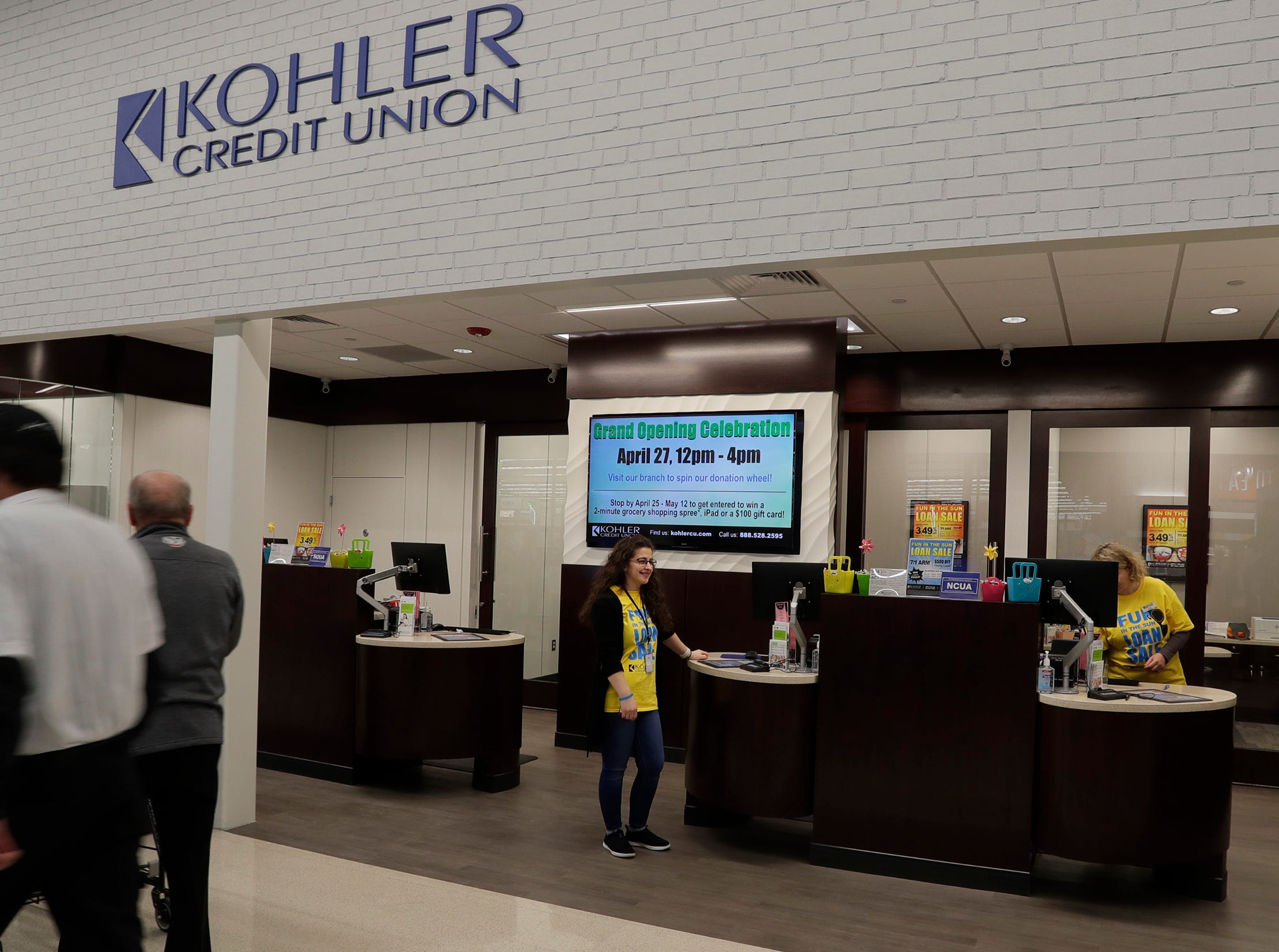Kohler Credit Union has opened a branch at Meijer, Thursday April 25, 2019, in Sheboygan, Wis. The 155,000-square-foot supercenter has 300 employees on opening day.