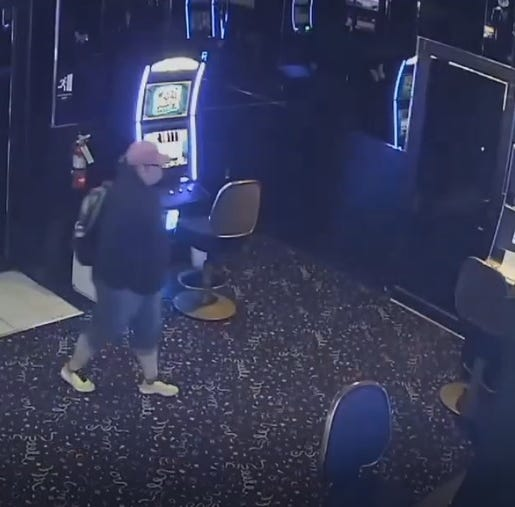 Suspect caught on camera stealing from Bossier casino