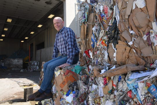 Millennium Recycling Founder and CEO Jake Anderson poses for a portrait at his company's northern Sioux Falls facility. Millennium is celebrating its 20th anniversary this year.