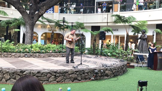 Richard Maxson, 60, of Springfield won two first places in February at the Eighth Annual International Ukulele Contest in Honolulu.