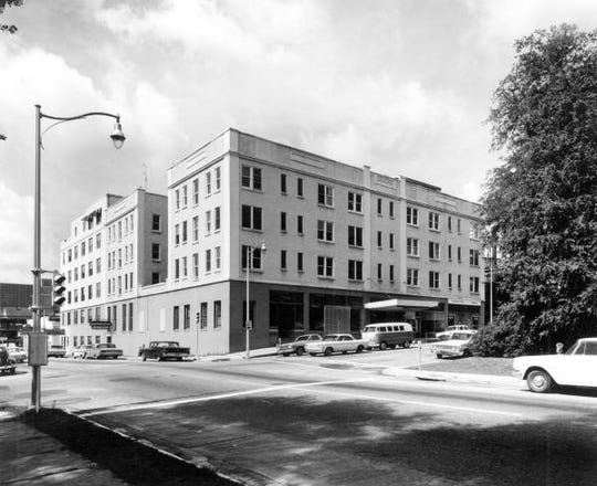 The Cherokee Hotel, where Jim Morrison lived in 1963.  The hotel was on the southwest corner of Park Avenue and Calhoun Street in Tallahassee. It was built in 1922 and demolished in 1964.
