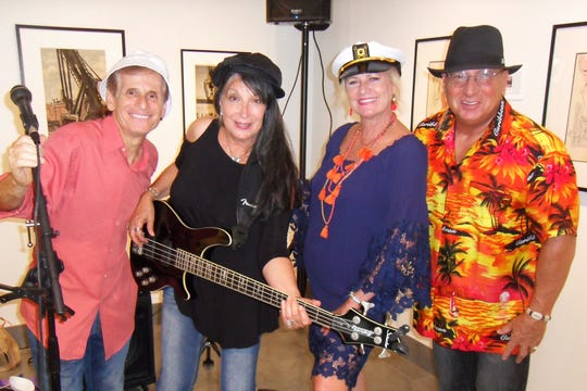 """""""The Mod Squad"""" Steve Kaplan, left, Terry Rudnick, Ronda Kaplan and Rich Silverberg at the Elliott Museum for the Volunteer Appreciation Party."""