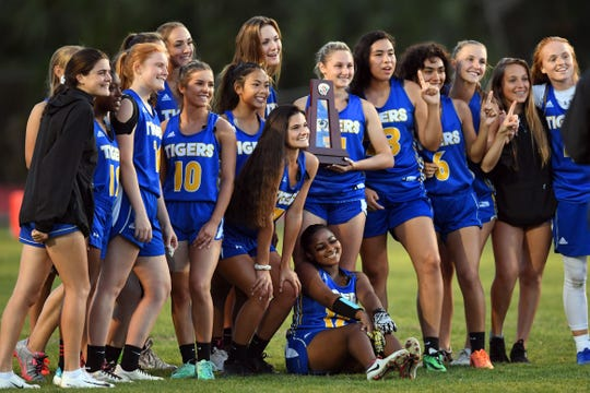 South Fork High School hosted the District 4-2A flag football championship on Wednesday, April 24, 2019 between Martin County and St. Lucie West Centennial high schools. Martin County won 25-0 to claim the district title.