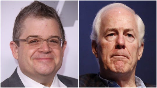 Patton Oswalt and John Cornyn