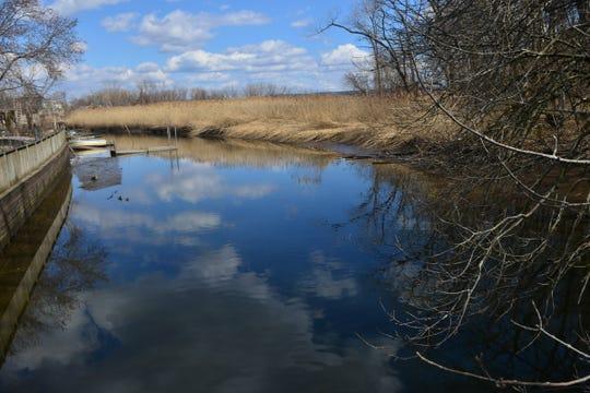 Sparkill Creek emptying into Piermont Marsh